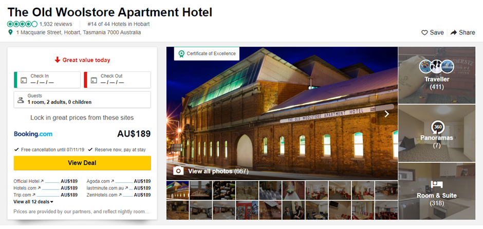 Claim or set up your hotel on TripAdvisor